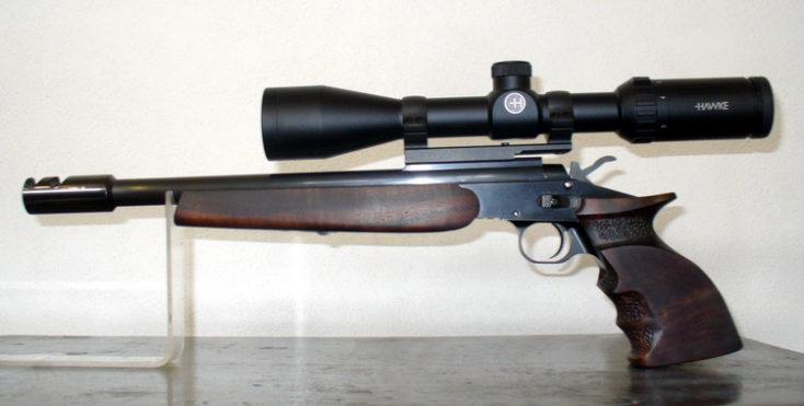 Zlamovacia športová pištoľ Krutý